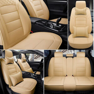 New Seat Covers Universal 5 seats Car Suv Front Rear Cushions Set All Weather Us
