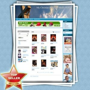 Christian And Gospel Media Store Online Home Based Business Website For Sale