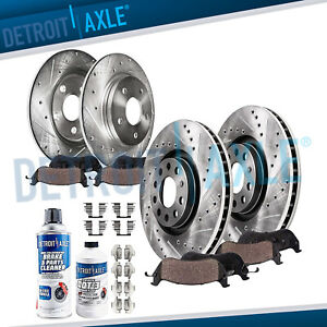 2006 2007 2008 Audi A4 Quattro 321mm Front Rear Brake Rotors Ceramic Pads Kit