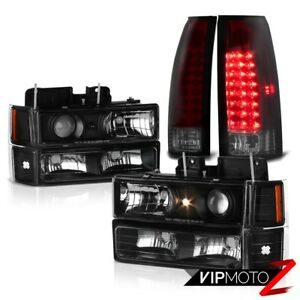 1994 1998 Chevy Silverado Suburban Tahoe Red Smoke Led Tail Light Head Lights