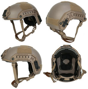 Maritime FAST Tactical Advanced Helmet LXL with Accessories in Dark Earth Tan