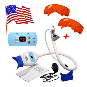 Usa Dental Teeth Whitening 6pcs Led Lamp Accelerator 2 Red Goggles