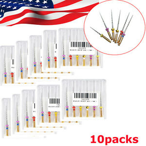 10pack 60pcs Dental Endodontic Niti Rotary Files Universe Sx f3 25mm Dentist Use