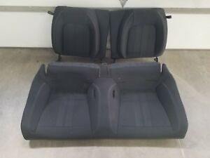 2018 2019 Mustang Gt Coupe Rear Seats Black Cloth Oem