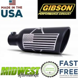 Gibson Patriot Rolled Edge Angle Exhaust Tip 5 Inch Inlet Universal Fitment