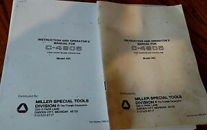 Chrysler Drb Ii Drbii Diagnostic Scan Miller Tool C 4805 Manual Instructions