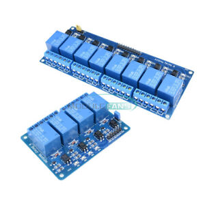 1 2 5 10pcs 5v 4 8 channel Optocoupler Relay Module For Arduino Pic Avr Dsp Arm