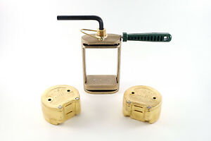 Dental Laboratory Lab Spring Press Compress With Two Flask Bronze 3 Pieces