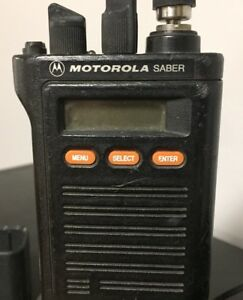 Motorola Saber 2 Way Radios W batteries And Chargers mics Available