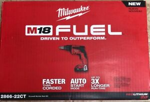 Milwaukee 2866 22ct 18 volt 2 0ah M18 Fuel Drywall Screw Gun Compact New