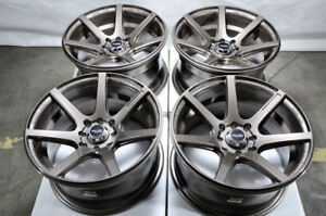 15x8 Wheels Corolla Civic Accord Escort Miata Mini Cooper Bronze Rims 4 Lugs