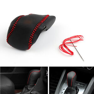 Genuine Leather Gear Shift Knob Cover Automatic For Buick Lacrosse 14 15 Blk Usa