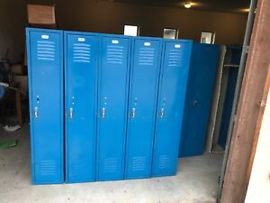 Metal School gym storage employee lockers cabinets No Amount Shown In Photo