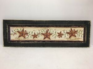 Star Print Country Primitive Home Decor Picture
