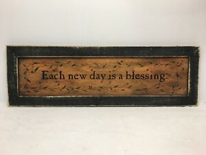 Each New Day Print Country Primitive Home Decor Picture