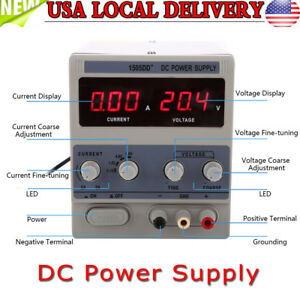 2 5a Precision Adjustable Dc Power Supply Digital Display 0 15v For Phone Repair