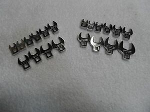 Craftsman 3 8 Drive Standard Sae Metric Mm Crowfoot Wrench Set 20 Pcs