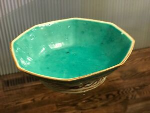 Antique Chinese Famille Rose Porcelain Footed Bowl Peaches