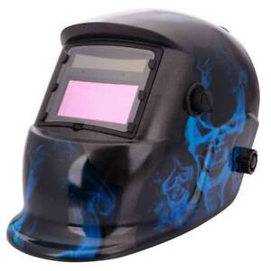 Flame Style Auto Color Changing Solar Power Single panel Welding Helmet Shield