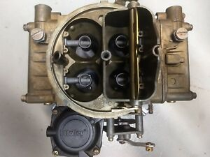 Holley Carburetor 600cfm Manual Choke 1850 4 Zinc Like New