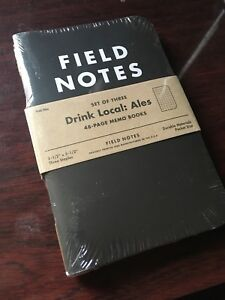 New Sealed Field Notes drink Local Ales Notebooks Fall 3 Pack W Coaster