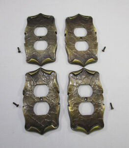 Amerock Carriage House Receptacle Outlet Covers Lot Of 4 Vintage With Screws