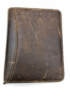 Franklin Covey Day Planner Sandstone Leather Made In Usa 7 Ring
