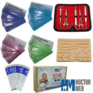 Suture Practice Kit For Suturing Training Advanced 30 Piece Suture Kit 4 Threads