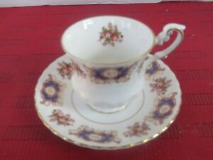 Vintage Rosina Fine Bone China Tea Cup And Saucer Made In England