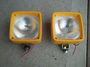 Two 24 Volt Halogen Flood Lamp For Excavator Caterpillar 311 312 Boom Light