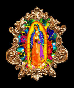 Our Lady Of Guadalupe 1 Applique Furniture Mount Decor Faux Ormolu