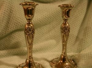 Pair Of Silverplate Godinger Candlesticks
