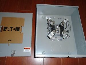 Eaton cutler Hammer 200 Amp 600 Volts Outdoor Meter Socket 3wire 4jaws ringless