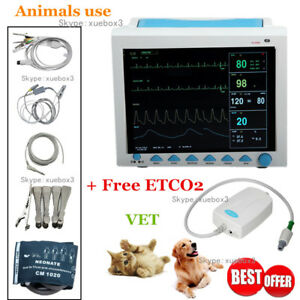 Cms8000 Co2 Veterinary Patient Monitor Capnograph Vital Signs 7 Parameter etco2
