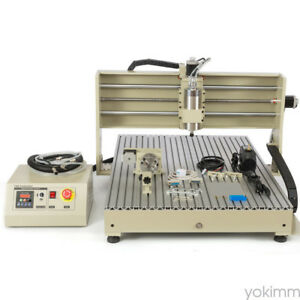 4axis Cnc6090gz Engraving Cutting Milling Machine 1500w High speed Motor New