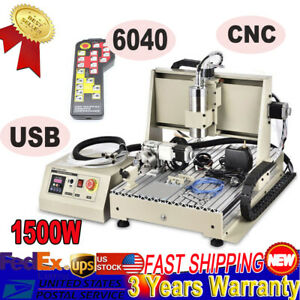 Cnc 6040 Router Engraver Machine Water cooling For Pcb Wood Plexiglass Pvc New