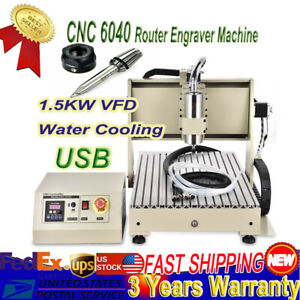 Cnc 6040 Router Engraver 1 5kw Water cooled Vfd For Pvc Acrylic Wood Soft Metal
