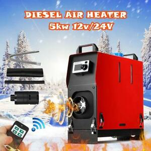 All In One 5000w Diesel Air Heater Lcd Monitor 5kw 12v For Trucks Boats Bus Camp