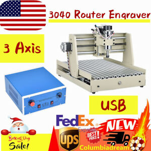 Usb 400w 3 Axis 3040 Router Engraver Machine Woodwork Pcb Engraving control Box