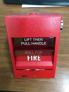 Edwards Est Fire Alarm Station Siga 278 Dual Action Red Pull Manual Release