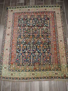 4x5ft Antique Russian Shirvan Wool Rug