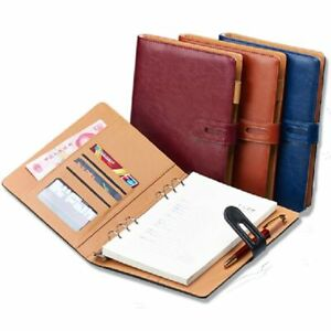 A6 A5 B5 A4 Business Pu Leather Diary Cover Office Professional Planner Book