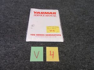 Yanmar Diesel Engine Ydg Series Generators Technical Service Manual Motor New