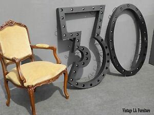 Large Vintage Industrial Art Deco Style 30 Marquee Wall Lights
