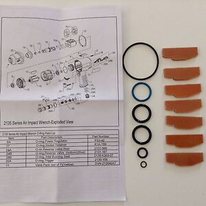Ingersoll Rand Vane And O Ring Kit For Ir2135 Ir2131 Impact Wrenches