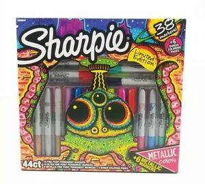 Sharpie Limited Edition 36 Permanent Markers And 2 Coloring Pages Set Metallic