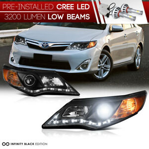 Integrated Led Low Beam L R Diamond Headlight 12 14 Toyota Camry Xle Se Hybrid