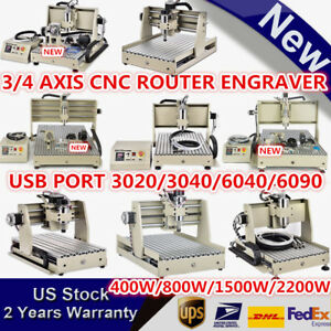 Usb 3 4 Axis Cnc Router Engraving Milling Machine 3040 6040 6090 3d Cutter 1500w