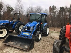 Newholland 3050 Boomer Tractor Cab Air Heat 4x4 W Loader Only 350 Hours