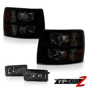 2007 2013 Silverado 3500hd Smoke Tinted Headlamps Phantom Foglights Replacement